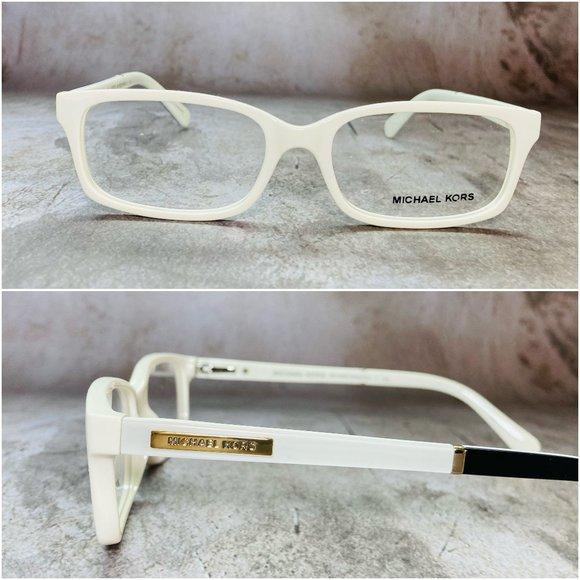 Michael Kors Rectangular Oak White Eyeglasses NWOT
